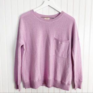DEMYLEE 100% cashmere jonathan jumper long drop sleeve ribbed cuff sweater small